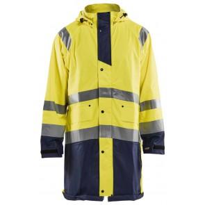 Blåkläder 4324-2000 Regenjas High Vis Geel/Marineblauw