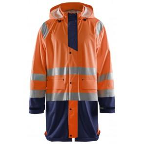 Blåkläder 4324-2000 Regenjas High Vis Oranje/Marineblauw