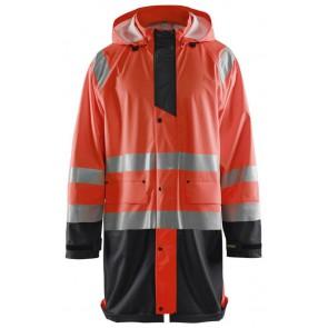 Blåkläder 4324-2000 Regenjas High Vis Fluor Rood/Zwart