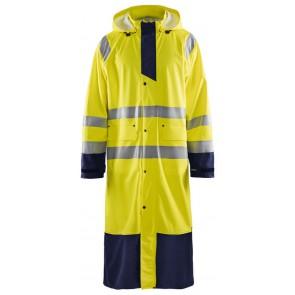 Blåkläder 4325-2000 Regenjas High Vis Geel/Marineblauw