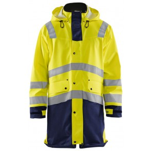 Blåkläder 4326-2005 Regenjas Heavy Weight High Vis Geel/Marineblauw