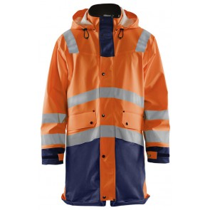 Blåkläder 4326-2005 Regenjas Heavy Weight High Vis Oranje/Marineblauw