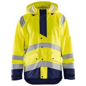 Blåkläder 4327-2005 Regenjas High Vis Level 3 Geel/Marineblauw
