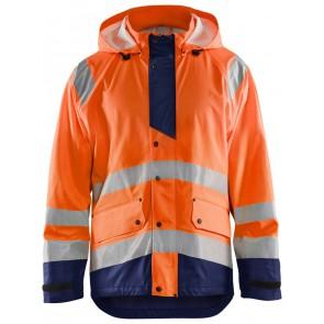 Blåkläder 4327-2005 Regenjas High Vis Level 3 Oranje/Marineblauw