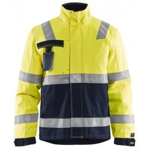Blåkläder 4468-1530 Multinorm Winterparka Geel/Marineblauw