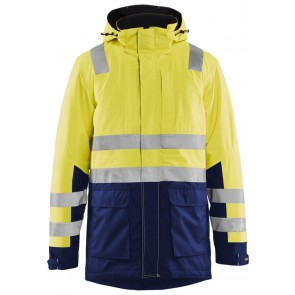 Blåkläder 4495-1987 High Vis parka Geel/Marineblauw