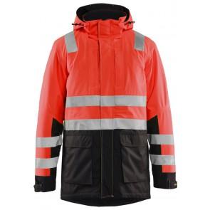 Blåkläder 4495-1987 High Vis parka High Vis Rood/Zwart