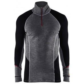 Blåkläder 4699-1736 Onderhemd zip-neck Grijs/Zwart