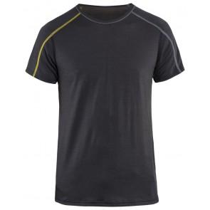 Blåkläder 4798-1734 Onderhemd korte mouw XLIGHT Donkergrijs/Geel