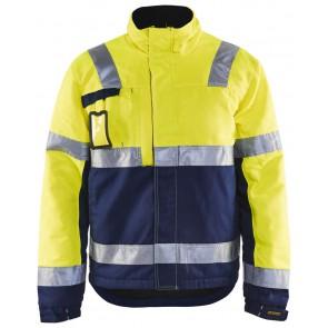 Blåkläder 4862-1811 Winterjas High Vis Geel/Marineblauw