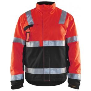 Blåkläder 4862-1811 Winterjas High Vis Rood/Zwart