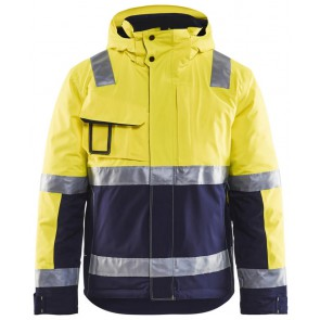 Blåkläder 4870-1987 Winterjas High Vis Geel/Marineblauw
