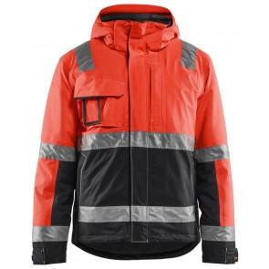 Blåkläder 4870-1987 Winterjas High Vis Fluor Rood/Zwart