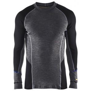 Blåkläder 4897-1732 Warm Crue neck Gey/Black