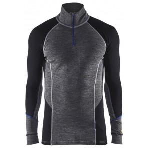 Blåkläder 4899-1732 Warm Onderkleding Zipneck Gey/Black