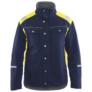 Blåkläder 4915-1370 Winterjas Visible Marineblauw/Geel