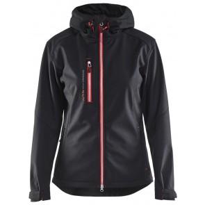 Blåkläder 4919-2517 Dames softshell jack Zwart/Rood