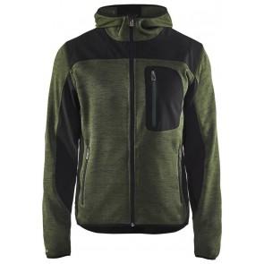 Blåkläder 4930-2117 Gebreid vest met softshell Army Groen/Zwart