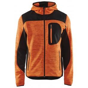 Blåkläder 4930-2117 Gebreid vest met softshell Oranje/Zwart