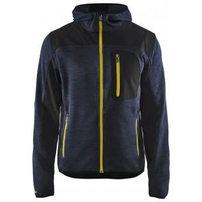 Blåkläder 4930-2117 Gebreid Vest Met Softshell Donkerblauw/Geel