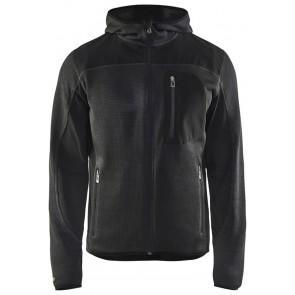 Blåkläder 4930-2117 Gebreid vest met softshell Donkergrijs/Zwart