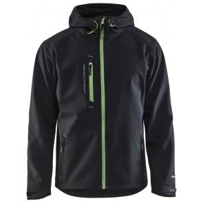 Blåkläder 4949-2517 Softshell Jack Zwart/Groen