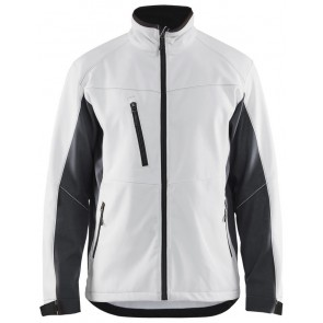 Blåkläder 4950-2516 Softshell Jack Wit/Donkergrijs