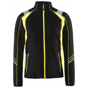 Blåkläder 4993-1010 Visible Microfleecevest Zwart/Geel