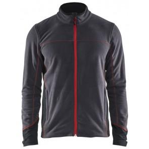 Blåkläder 4995-1010 Microfleecevest Donkergrijs/Rood