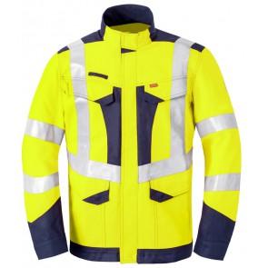 Havep 50247 Korte jas/Vest Fluo Geel/Marine
