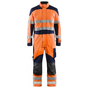 Blåkläder 6089-1513 Multinorm inherent overall High Vis Oranje/Marineblauw