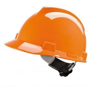 MSA V-Gard veiligheidshelm met Fas-Trac III binnenwerk (GV162) oranje