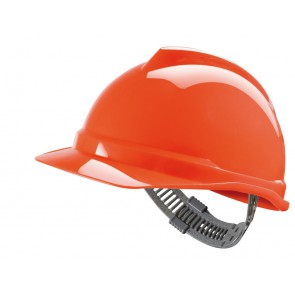 MSA V-Gard 500 ongeventileerde veiligheidshelm met Push-Key binnenwerk (GV561) oranje