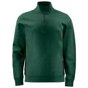 Projob 2128 Sweatshirt Met Halve Ritssluiting Woudgroen