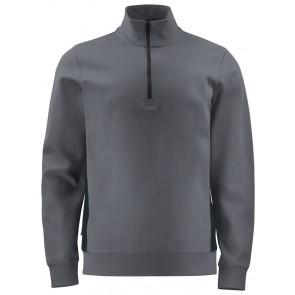 Projob 2128 Sweatshirt Met Halve Ritssluiting Grijs