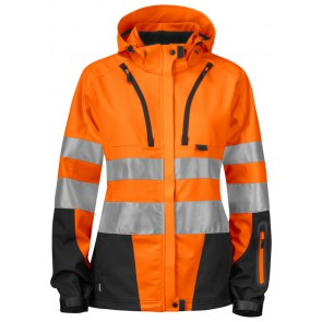 Projob 6423 Dames Softshell jas Oranje/Zwart