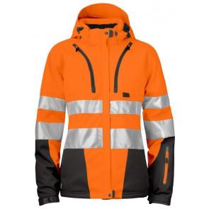 Projob 6424 Gevoerde Jas Dames - ISO 20471 Klasse 3/2 Oranje/Zwart