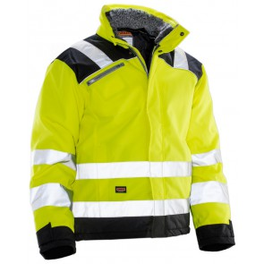 Jobman 1346 Winter Jacket Star Kl3 Geel/Zwart