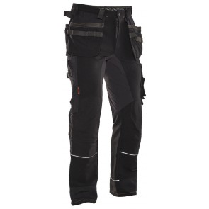 Jobman 2191 Trousers HP Stretch Zwart/Wit