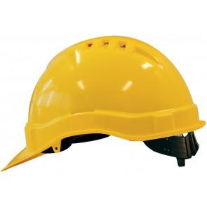 M-Safe PE veiligheidshelm MH6000 geel met schuifinstelling