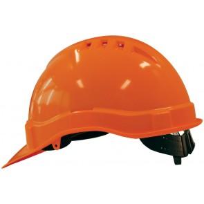 M-Safe PE veiligheidshelm MH6000 oranje met schuifinstelling