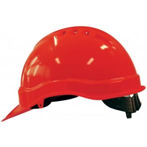 M-Safe PE veiligheidshelm MH6000 rood met schuifinstelling
