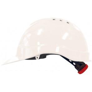M-Safe PE veiligheidshelm MH6010 wit met draaiknop