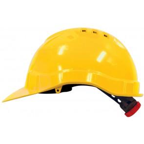 M-Safe PE veiligheidshelm MH6010 geel met draaiknop