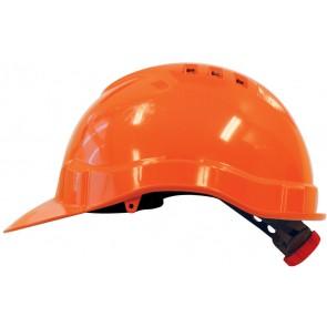 M-Safe PE veiligheidshelm MH6010 oranje met draaiknop