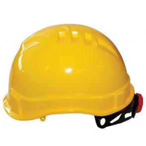 M-Safe MH6030 veiligheidshelm geel met draaiknop korte klep