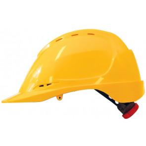 M-Safe ABS veiligheidshelm MH6020 geel met draaiknop