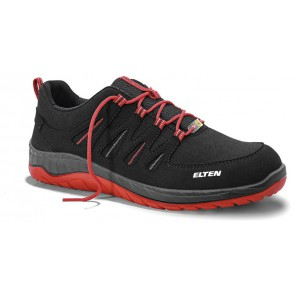 Elten Maddox Black/Red Low Esd S3 Werkschoenen