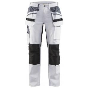 Blåkläder 7910-1000 Dames Schilders werkbroek met stretch Wit/zwart