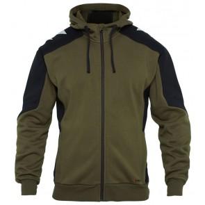 F. Engel 8820-233 Hoody Sweater Groen/Zwart